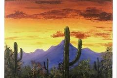 Sunset in desert 2020-01-11